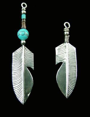 Feather with SemiPrecious Stone