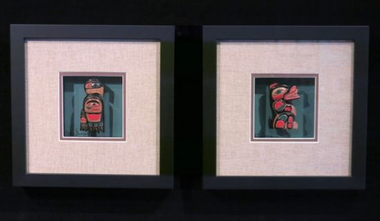 Miniature Masks in Fancy Frames