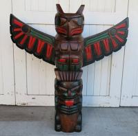 Thunderbird and Bear Pole - Painted Finish
