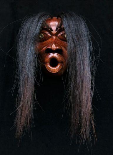 Tsonokwa Mask with Horse Hair -