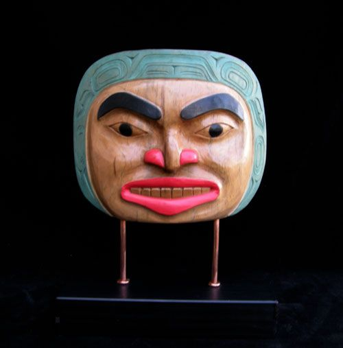Moon Mask on Stand