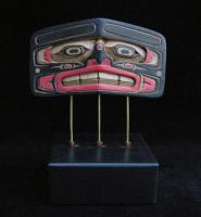 Human Frontlet Mask on Stand