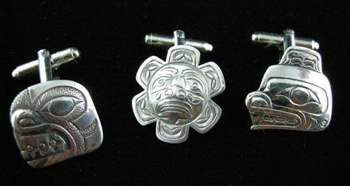 Silver Cuff Links (Three Designs)